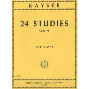 Kayser, Heinrich Ernst - 24 Studies, Op. 55 - Viola - International Music Co.